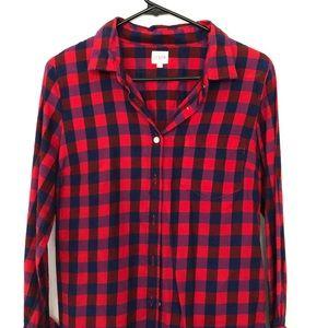 J. Crew Factory Bright Flannel Button Down Shirt